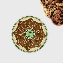 Dekorácie - Ozdoba na koláčik mandala čokoláda s písmenom - 10337686_