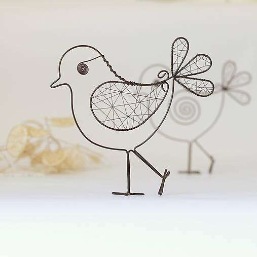 Dekorácie - vtáčik stojací - 10342563_