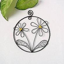Dekorácie - kvety v kruhu (Žltá) - 10342627_