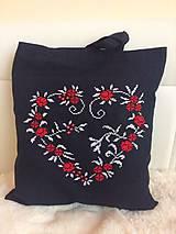 Nákupné tašky - Nakupujem srdcom červená - 10340843_