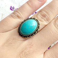 Prstene - ZĽAVA 55% Tyrkenite Ring / Prsteň s tyrkenitom v bronzovom prevedení #1471 - 10340061_
