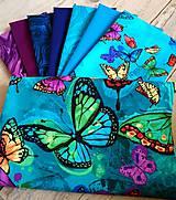 Textil - Balíček dizajnových bavlnených látok Butterfy - 10341495_
