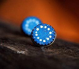 Náušnice - Náušnice napichovacie Nostalgia tmavšie modré - 10339931_