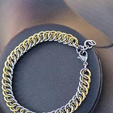 Náramky - Spojení - náramok (zlatý) - 10343577_