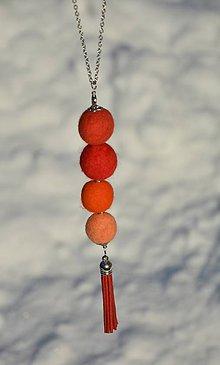 Náhrdelníky - Oranžáda - 10343415_