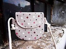 Detské tašky - Detská taštička - farebné bodky - 10342633_