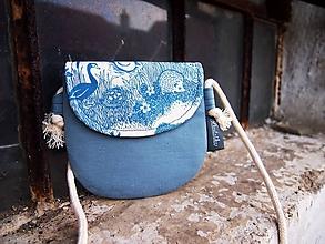 Detské tašky - Detská taštička - zvieratká v modrej - 10342729_