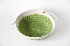 Košíky - Miska zelená - 10341731_
