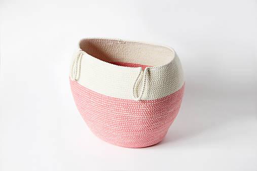 Košík růžový závěsný