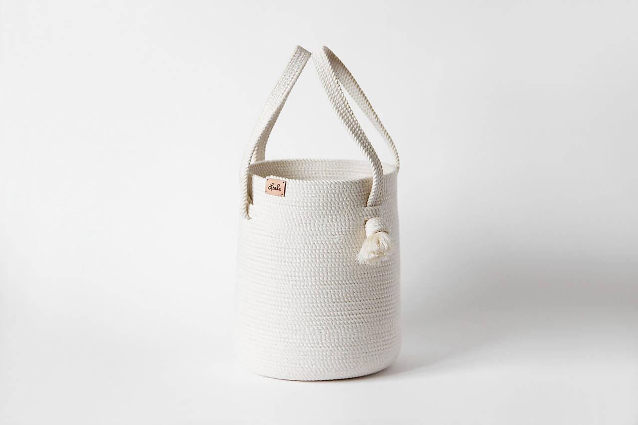 Košík/kabelka přírodní s ušima