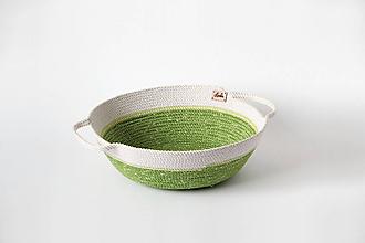 Košíky - Miska zelená - 10341727_
