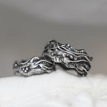 Prstene - Strieborné unikátne reliéfne odlievané obrúčky - Šum prírody - 10342738_