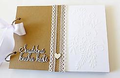 Papiernictvo - svadobná kniha hostí - 10340567_