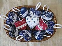 Darčeky pre svadobčanov - Svadobné srdiečka modré..folk - 10341062_