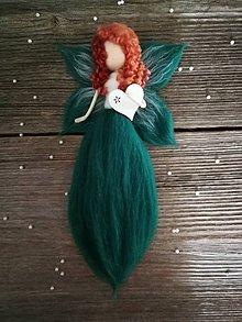 Dekorácie - Plstena vilka smaragd - 10341611_