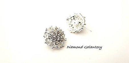 Galantéria - Brošňa ozdobná -20 mm- Crystal - 10343065_