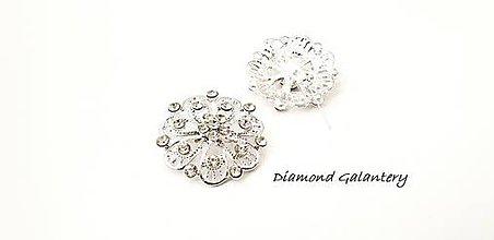 Galantéria - Brošňa ozdobná -30 mm- Crystal III - 10343445_