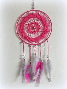 Dekorácie - Lapač snov - ružový - 10341074_