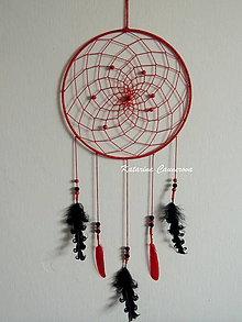 Dekorácie - Lapač snov - červený - 10341167_