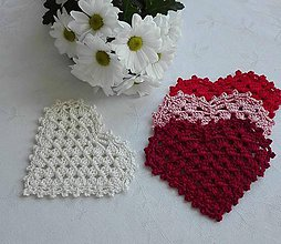 Úžitkový textil - Podšálky - od srdca k srdcu - 10342906_