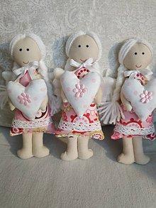 Dekorácie - Mini anjeliky pre radosť (Farebné MINI anjeliky) - 10340643_