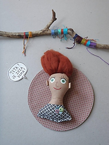 Magnetky - Dievčatko - magnetka - 10341581_