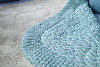 Textil - Detská deka Nr.518 mentolová - 10343098_