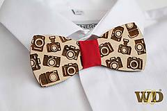 Doplnky - Drevený motýlik pre fotografa/kameramana - 10343175_
