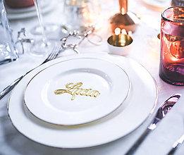 Darčeky pre svadobčanov - Menovky pre hosti (Strieborná) - 10339812_