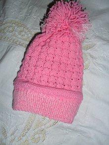 Detské čiapky - Čiapočka pre dievčatko. - 10343581_