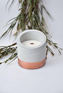 Svietidlá a sviečky - Beton - Levanduľa - 10343078_