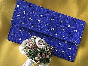 Kabelky - listová kabelka Modrá - 10340121_