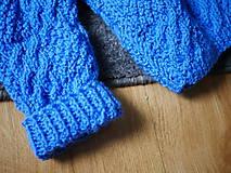 Detské oblečenie - modrý pletený pulóvrik, - 10342704_