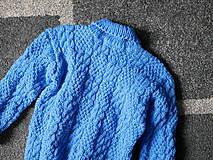 Detské oblečenie - modrý pletený pulóvrik, - 10342714_