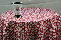 Úžitkový textil - Obrus. Retro kvietkový májový. - 10343161_