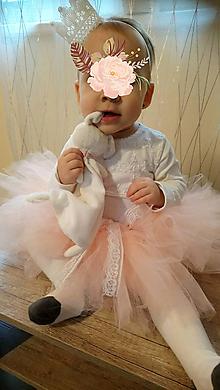 Detské oblečenie - Tutu suknička s dvoma čelenkami - 10340979_