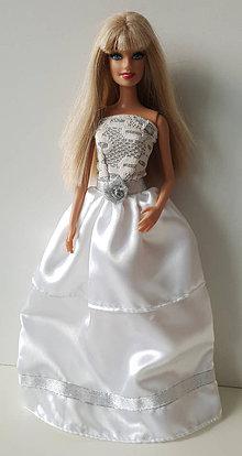 Hračky - Svadobné šaty s kvietkom - 10339782_