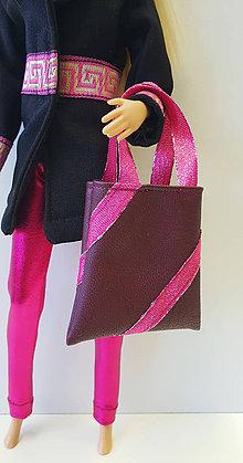 Hračky - Bordová kabelka pre Barbie - 10342925_