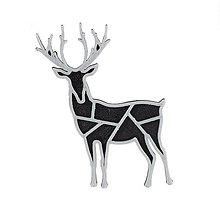 Odznaky/Brošne - Jeleň black/silver - 10341977_