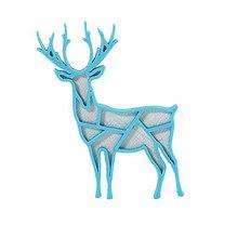 Odznaky/Brošne - Jeleň silver/turquoise blue - 10341997_