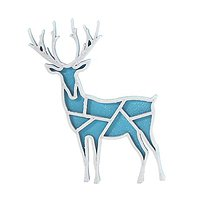 Odznaky/Brošne - Jeleň turquoise blue/silver - 10342008_