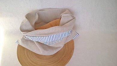 Úžitkový textil - vrecko na pečivo s výšivkou - (37x36) cm - 10340505_