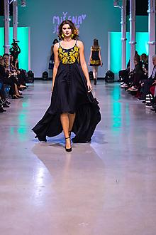 Šaty - Kolekcia Inšpirácie - modrotlač - 10340131_