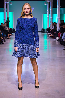 Šaty - Kolekcia Inšpirácie - modrotlač - 10340268_