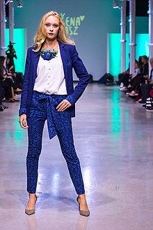 Nohavice - Kolekcia Inšpirácie - modrotlač - 10340365_