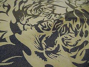 Textil - Lenny Lamb Tiger Black & Beige - 10340713_