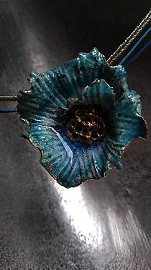 Náhrdelníky - Tyrkysový kvet - 10343187_