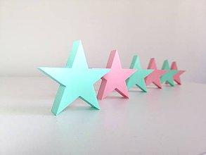 Detské doplnky - 3D Hviezdičky na stenu - 10341132_