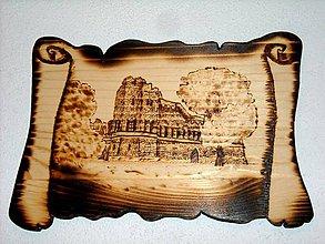 Obrázky - Drevený vypaľovaný obraz - Jánov hrad - 10340333_