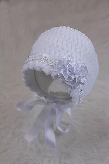 Detské čiapky - zimný čepček (nielen) na krst - 10341208_